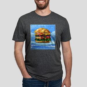 Cheeseburger in the Tropics Mens Tri-blend T-Shirt