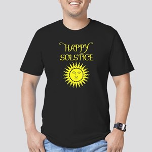 Happy Solstice Men's Fitted T-Shirt (dark)