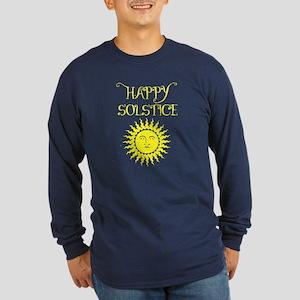 Happy Solstice Long Sleeve Dark T-Shirt