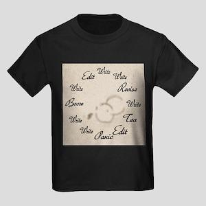 Writer's Clock Kids Dark T-Shirt