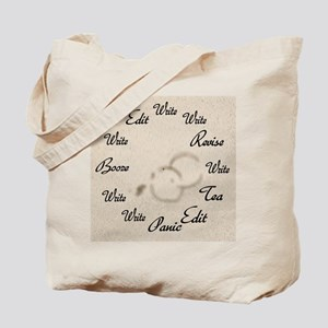 Writer's Clock Tote Bag