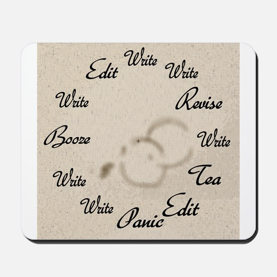 Writer's Clock Mousepad