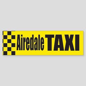 Airedale Taxi Bumper Sticker