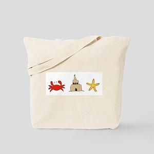 crab-castle-starfish Tote Bag