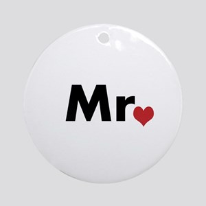 Mr and Mrs matching hats Ornament (Round)