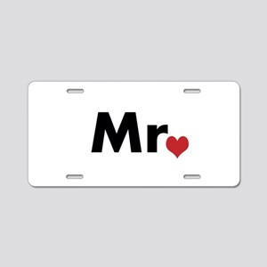 Mr and Mrs matching hats Aluminum License Plate