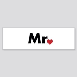 Mr and Mrs matching hats Sticker (Bumper)
