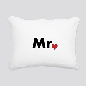 Mr and Mrs matching hats Rectangular Canvas Pillow