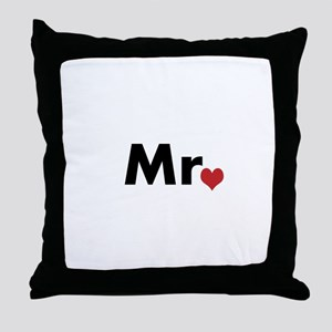 Mr and Mrs matching hats Throw Pillow