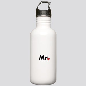 Mr and Mrs matching hats Stainless Water Bottle 1.