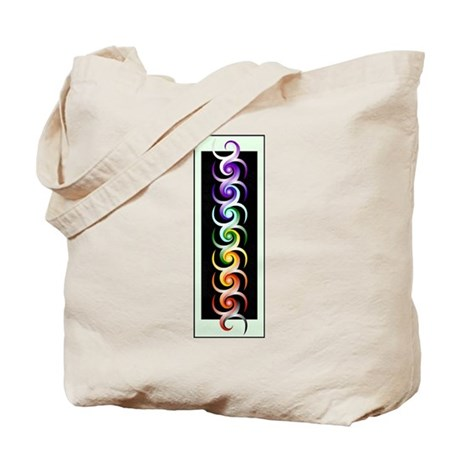 Chakra Spirals with labels Tote Bag