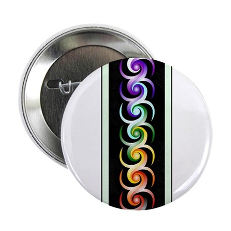 """Chakra Spirals with labels 2.25"""" Button"""
