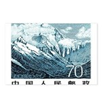 1983 China Mount Everest Postage Stamp Postcards (