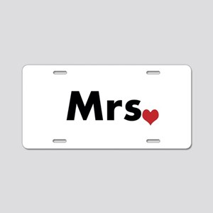Mr and Mrs Aluminum License Plate