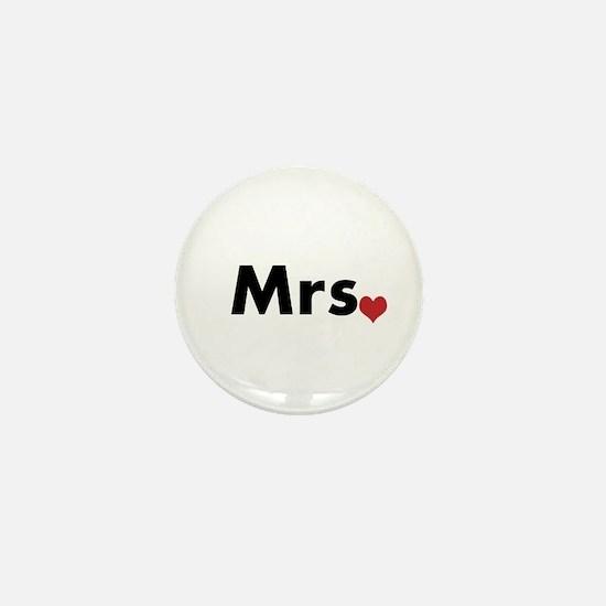 Mr and Mrs Mini Button