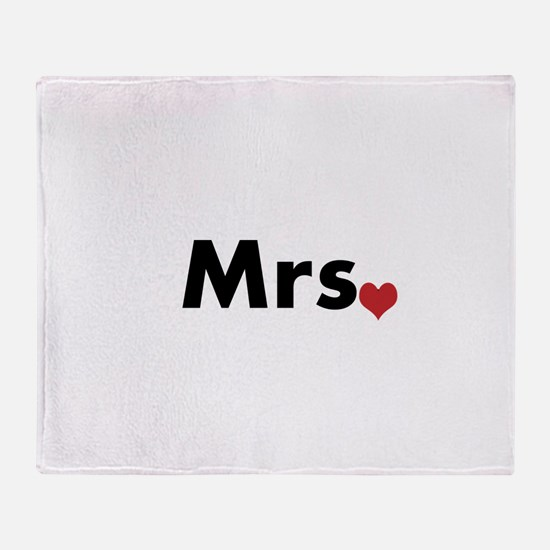 Mr and Mrs Throw Blanket