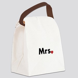 Mr and Mrs Canvas Lunch Bag