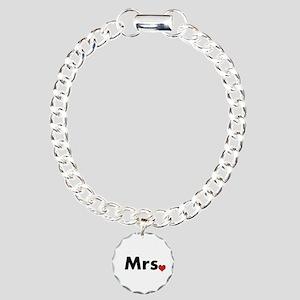 Mr and Mrs Charm Bracelet, One Charm