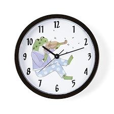 Music Frog Wall Clock