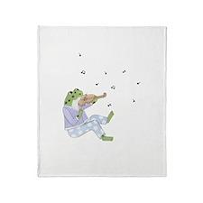 Music Frog Throw Blanket