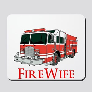 Fire Wife Firetruck Mousepad