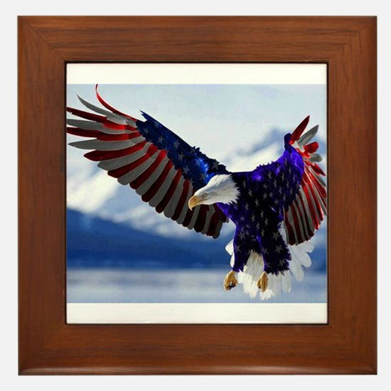 All American Eagle Framed Tile