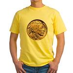 Nickel Indian-Buffalo Yellow T-Shirt