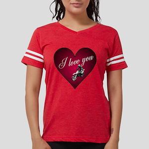 i love you biker trans Womens Football Shirt