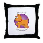 Mutts Do It Throw Pillow