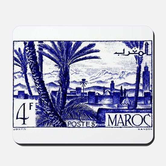 1947 Morocco Marrakesh Postage Stamp Mousepad