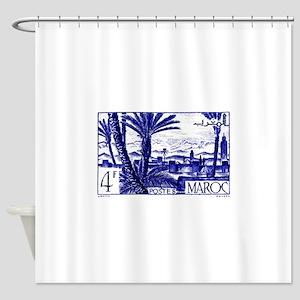 1947 Morocco Marrakesh Postage Stamp Shower Curtai