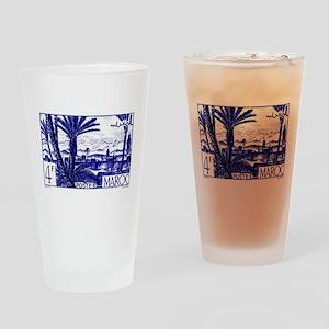 1947 Morocco Marrakesh Postage Stamp Drinking Glas