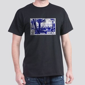 1947 Morocco Marrakesh Postage Stamp Dark T-Shirt