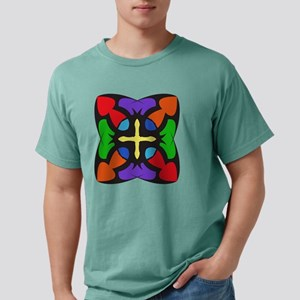 STAINED GLASS CROSS Mens Comfort Colors Shirt
