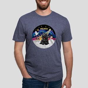 R-XmasSunrise-BlackCocker.p Mens Tri-blend T-Shirt