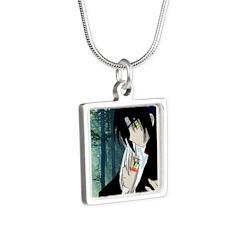 lz Silver Square Necklace