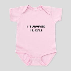 I Survived 12/12/12 Infant Bodysuit
