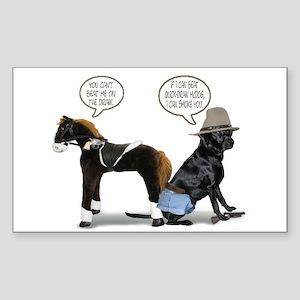 Black Lab Cowboy Rectangle Sticker