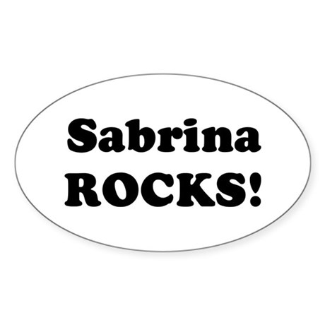 Sabrina Rocks! Oval Sticker