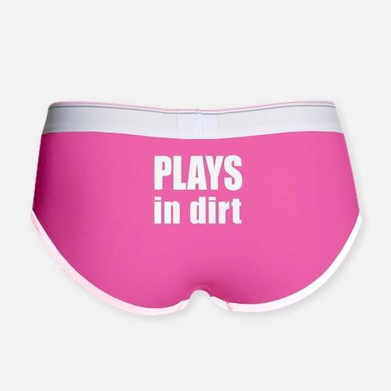 plays in dirt Women's Boy Brief