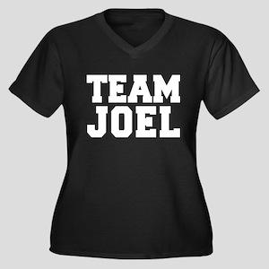 TEAM JOEL Women's Plus Size V-Neck Dark T-Shirt
