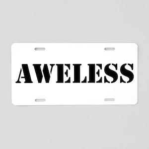 Aweless Aluminum License Plate