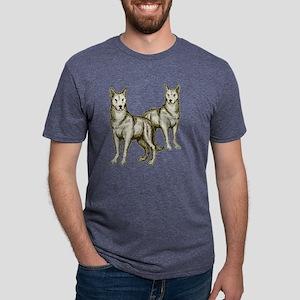 Pair of Wolves transparent  Mens Tri-blend T-Shirt