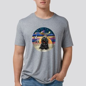 R-X-Angel-BlackCocker Mens Tri-blend T-Shirt