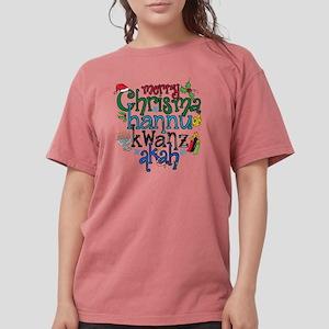 Merry Chrismahannukwan Womens Comfort Colors Shirt