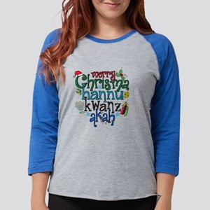 Merry Chrismahannukwanzakah Womens Baseball Tee