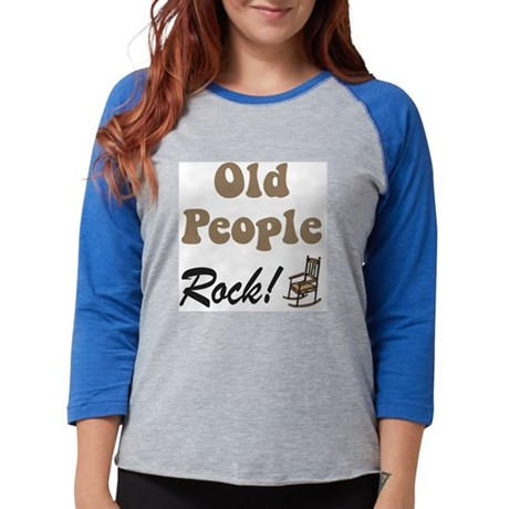 old people rock 2a.png Womens Baseball Tee