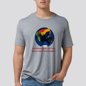 Montessorians Nurture Peace Mens Tri-blend T-Shirt