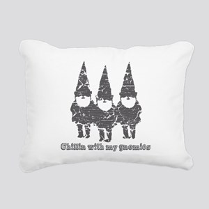 Chillin with my gnomies Rectangular Canvas Pillow