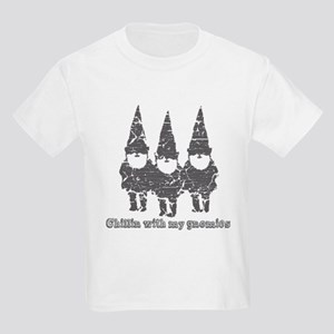 Chillin with my gnomies Kids Light T-Shirt